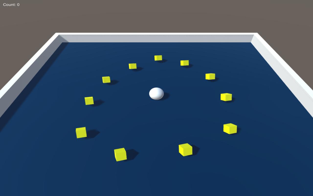 Roll A Ball Main Screen