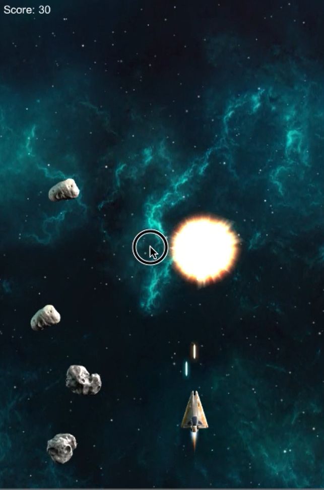 Space Shooter Extended Blow Up Explosion