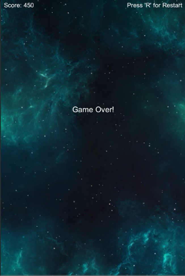 Space Shooter Extended Game Over 2