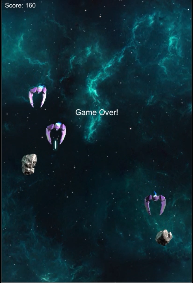 Space Shooter Extended Game Over
