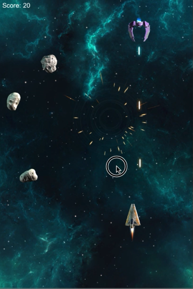 Space Shooter Extended Rock Blow Up