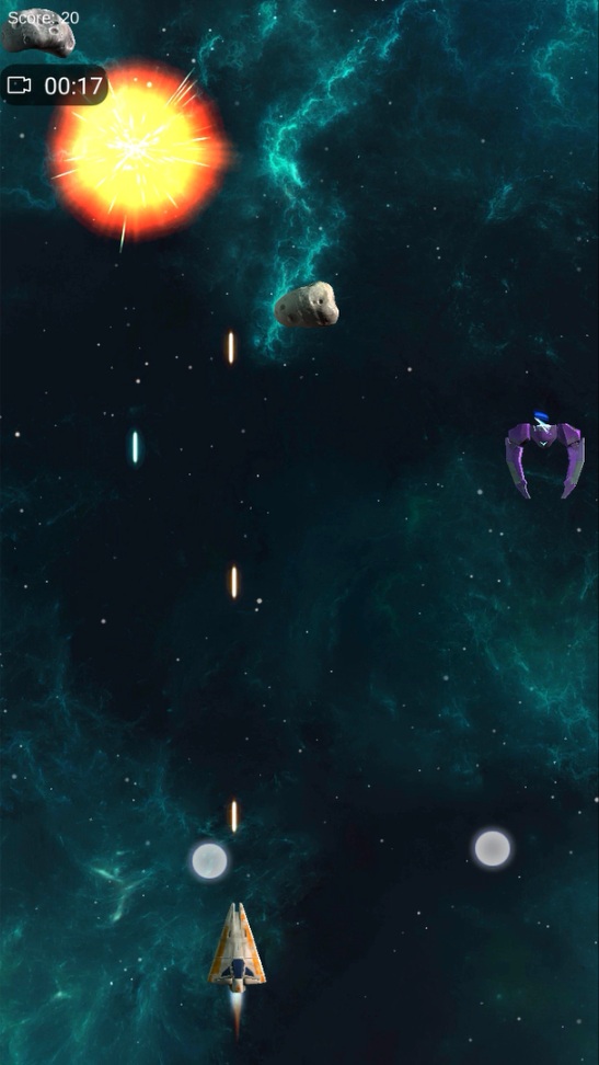 Space Shooter Android Enemy Blow Up