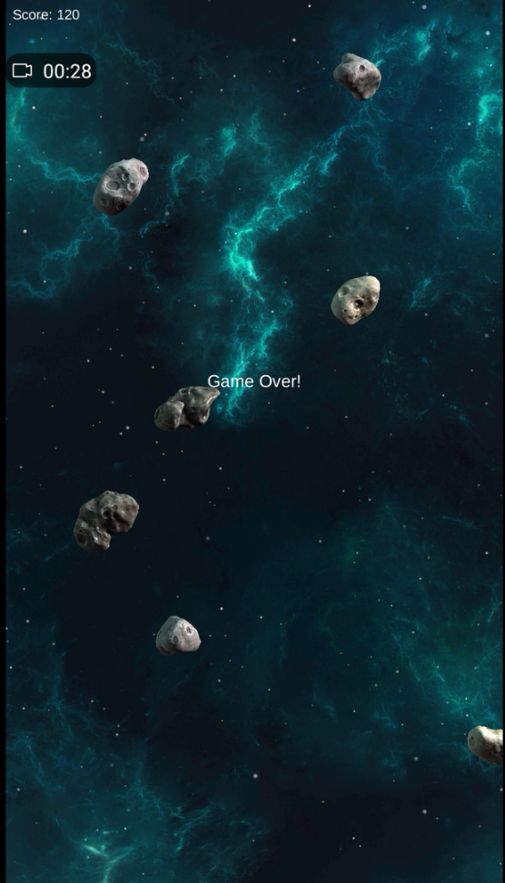 Space Shooter Android Game Over