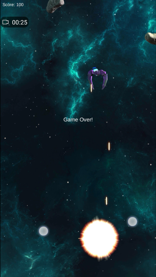 Space Shooter Android Player Blow Up