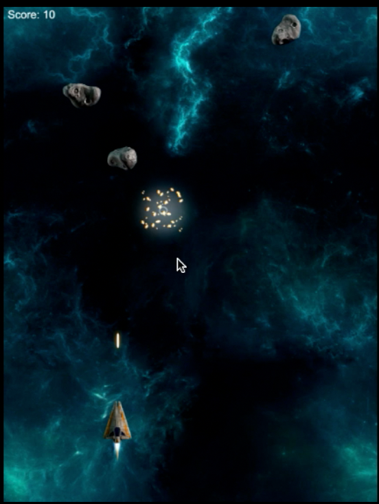 Space Shooter Rock Explosion 4