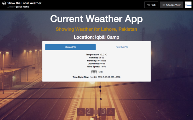 Current Weather App